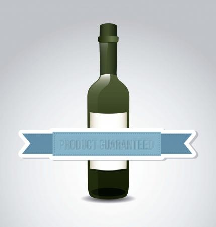wine bottle over gray background. vector illustration Stock Vector - 18710173
