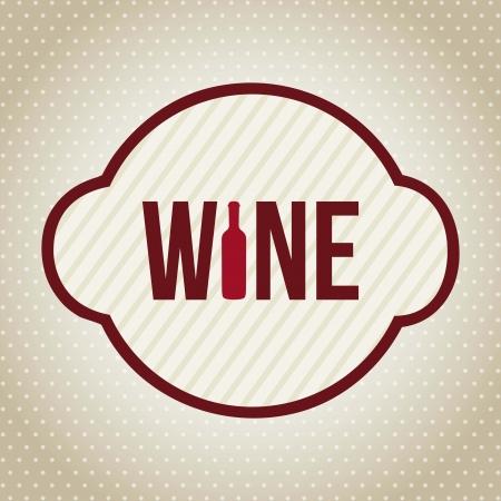 wine label over beige background. vector illustration Stock Vector - 18710223