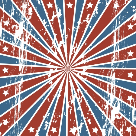 us independance: american background with stars, grunge. vector illustration