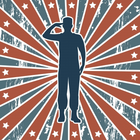 enlist: american soldier over american background. vector illustration Illustration