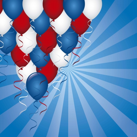 presidents day: american background with balloons. vector illustration