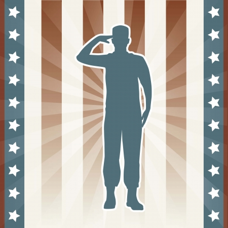 american soldier: american soldier over beige background. vector illustration