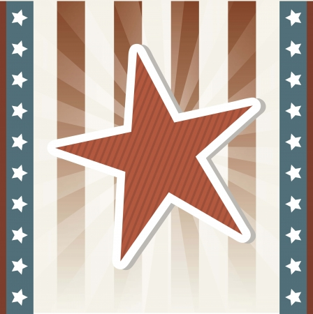 us independance: blank american background with stars. vector illustration Illustration