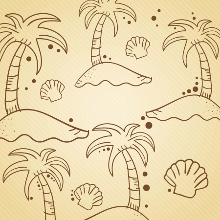 Beach, Vacations and Travel concept. Vector Illustration Stock Vector - 18710242