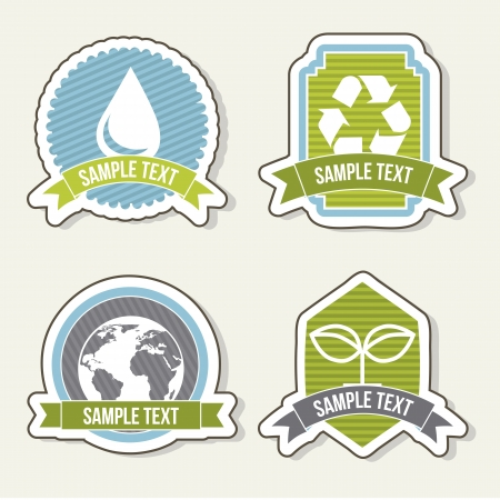 ecology icons over beige background. vector illustration Vector