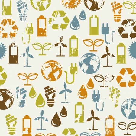 save the planet: ecology icons over beige background. vector illustration Illustration