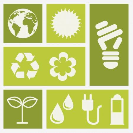 enviromental: ecology icons over white background. vector illustration