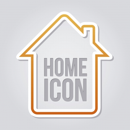 abode: home icon over gray background. vector illustration