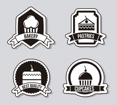 cakes icons over gray background. vector illustration