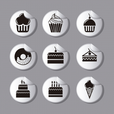 cakes icons over gray background. vector illustration Vector