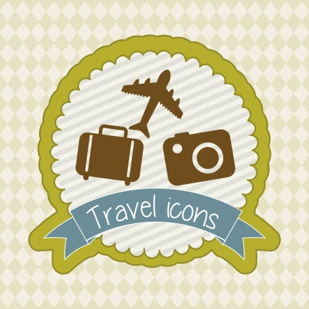 travel icons over beige background. vector illustration Vector