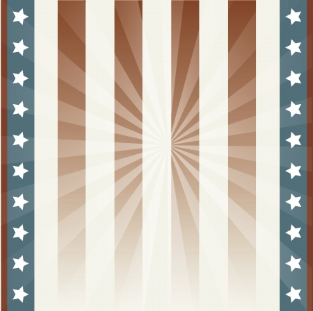 us independance: american background with stars and flag. vector illustration