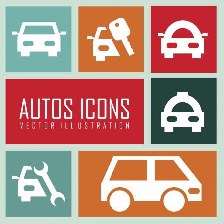transport icons over squares background. vector illustration Vector