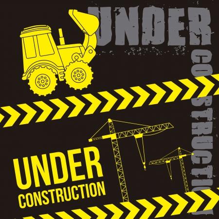 excavator cartoon over black background. vector illustration Stock Vector - 19033702