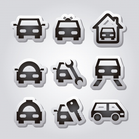 transport icons  over gray background. vector illustration Vector