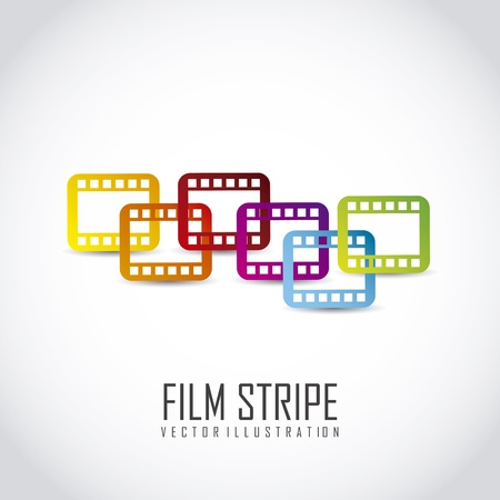 photo strip: film stripe over gray background. vector illustration