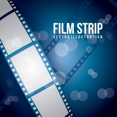 film industry: film stripe over blue background. vector illustration