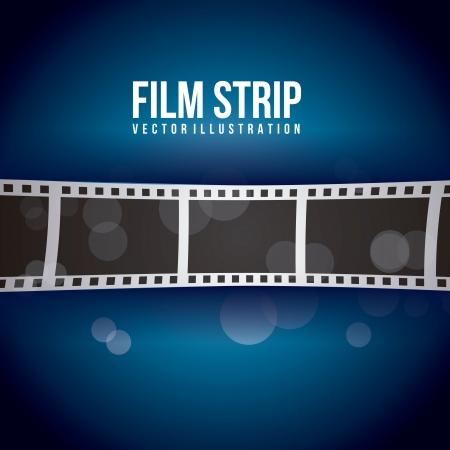 lembo: striscia di pellicola su sfondo blu. illustrazione vettoriale Vettoriali