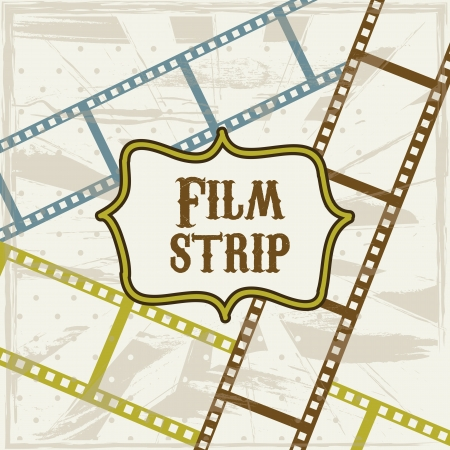 photo strip: film stripe over beige background. vector illustration Illustration