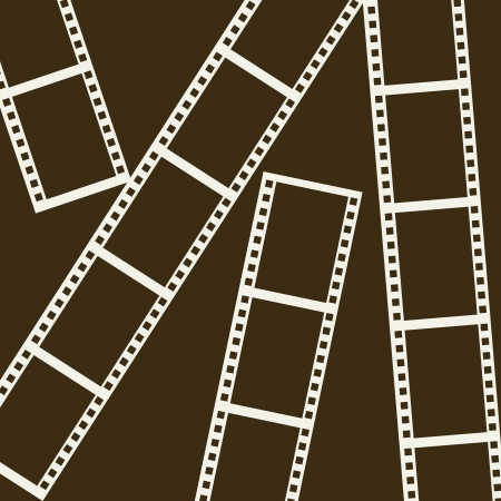 photographic effects: film stripe over brown background. vector illustration