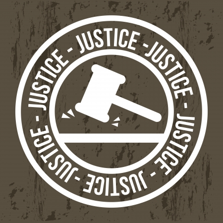 justice seal over brown background. vector illustration Stock Vector - 19033711