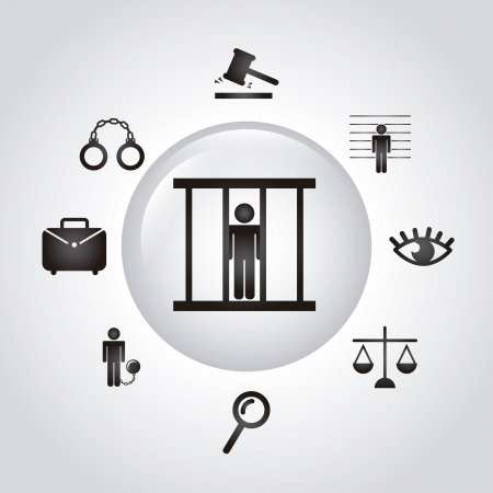 jail icons over gray background. vector illustration Stock Vector - 19033357
