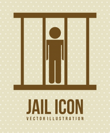 jail icon over beige background. vector illustration Vector