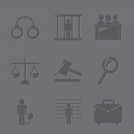 jail icons over gray background. vector illustration Stock Vector - 19033352