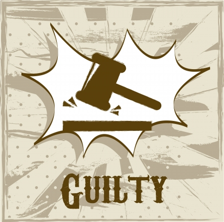 guilty symbol over beige background. vector illustration Stock Vector - 19033737