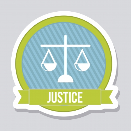 justice icon over gray background. vector illustration Stock Vector - 19033343