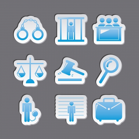 jail icons over gray background. vector illustration Stock Vector - 19033351