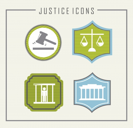 jail icons over beige background. vector illustration Stock Vector - 19033346