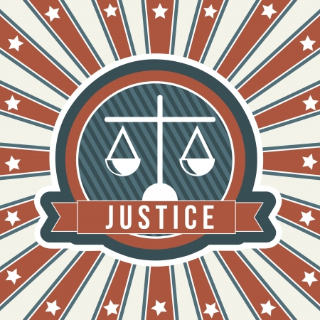 justice icon over vintage background. vector illustration Vector