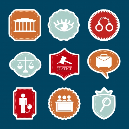 jail icons over blue background. vector illustration Stock Vector - 19033359