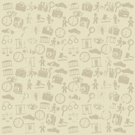 jail icons over beige background. vector illustration Vector