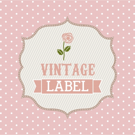 cute vintage label over pink background. vector illustration Stock Vector - 19033635