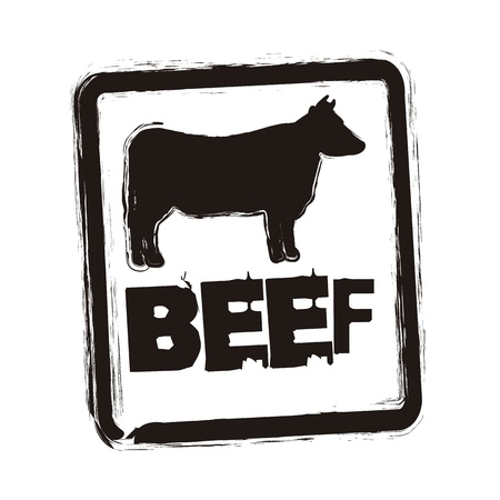 beef seal over whitebackground. vector illustration Vector