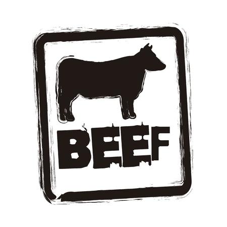 beef seal over whitebackground. vector illustration Illustration
