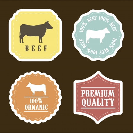 farm animals over brown background. vector illustration Vector