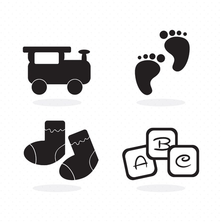 Baby icons ( objects, concepts and elements) vector illustration Vector