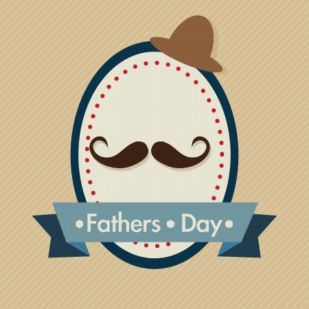 family fun day: Fathers Day Icons and Cards ( Concepts) Vector illustration