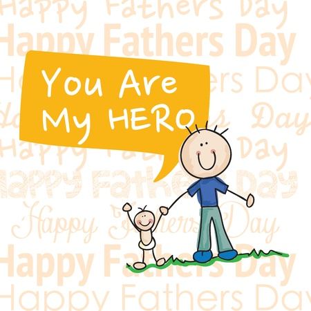 Fathers Day Icons and Cards ( Concepts) Vector illustration Vector