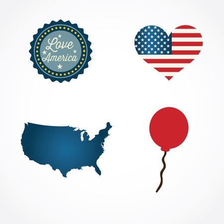 us map: USA Icons colletions and concepts. Vector Illustrations