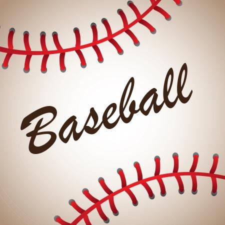big baseball ball background vector illustration