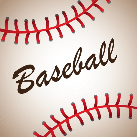 pelota de beisbol: gran bola b�isbol ilustraci�n de fondo vector