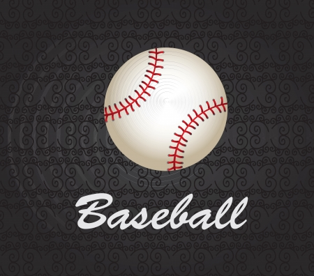 Baseball ball ove black background vector illustration Vector