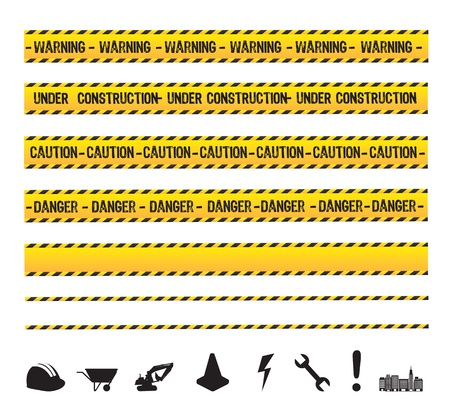 under construction tools over white background Stock Vector - 19179955