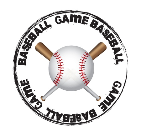 baseball ball over seal background vector illustration Vector