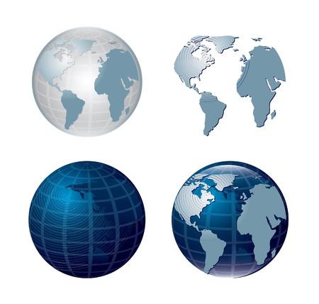 orbital: World icons over white background vector illustration