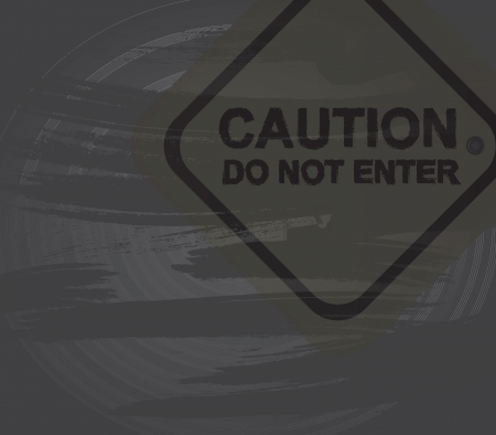 Caution signal over gray background vector illustration Vector